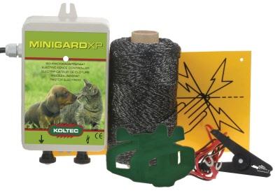 Schrikdraad apparaten paketten enz. voor tuinen volières en vijvers